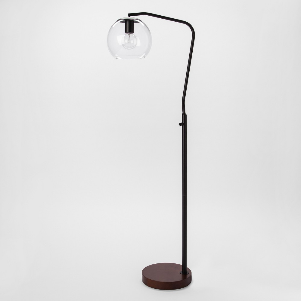 Menlo Glass Globe Floor Lamp Black Lamp Only - Project 62