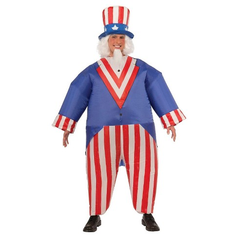 Men's Uncle Sam Inflatable Costume Red - image 1 of 1