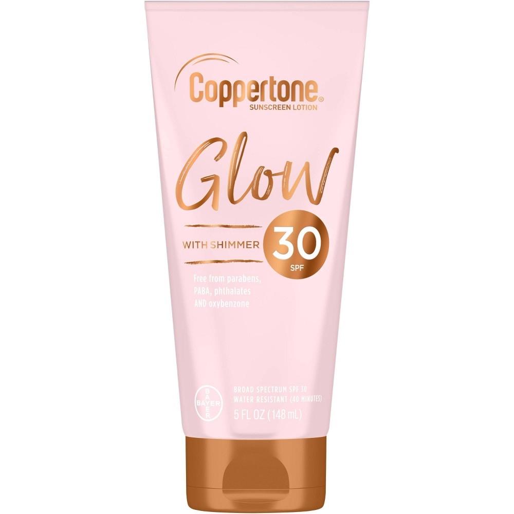 Image of Coppertone Glow With Shimmer Sunscreen Lotion - SPF 30 - 5 fl oz