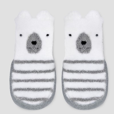 Baby Boys' Terry Puppet Slipper Socks - Just One You® made by carter's Gray Newborn