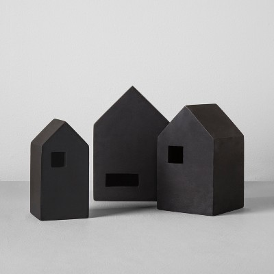 Wood Nesting House (Set of 3)- Black - Hearth & Hand™ with Magnolia