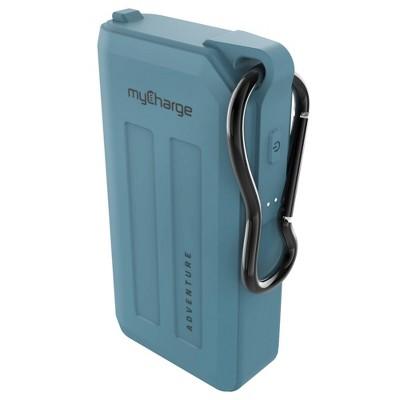 myCharge Adventure H2O Plus 6700mAh/2.4A Output Dual USB-A Port Power Bank - Blue