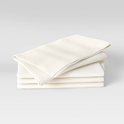 4pk Cotton Easy Care Napkins Cream - Threshold™