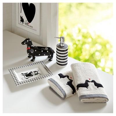 Polka Dot Dog Bath Coordinate Set (8.66 x2.5 x5.51 )Black