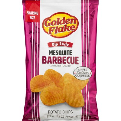Golden Flake Mesquite BBQ Chips - 7.5oz