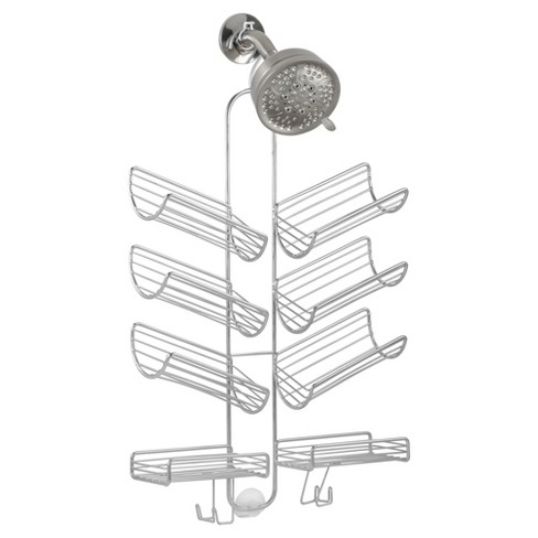 Hand Held Hose Bathroom Shower Caddy Silver - InterDesign - image 1 of 3