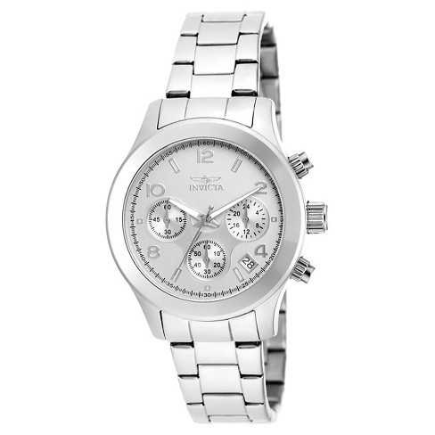Women's Invicta 19216 Angel Quartz Chronograph Silver Dial Link Watch - Silver - image 1 of 1