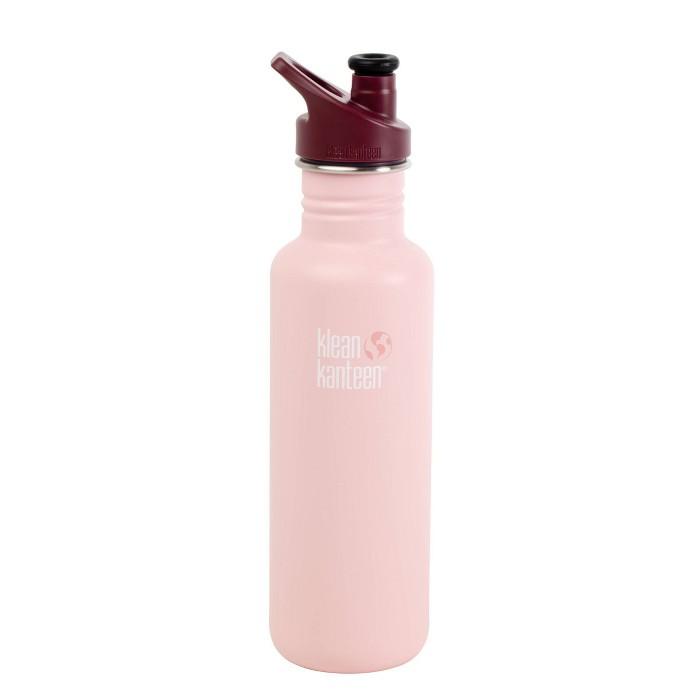 Klean Kanteen 27oz Stainless Steel Bottle - Millennial Pink with Maroon Cap - image 1 of 1