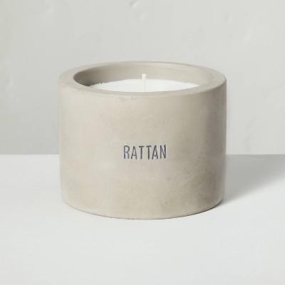 5oz Rattan Mini Cement Candle - Hearth & Hand™ with Magnolia