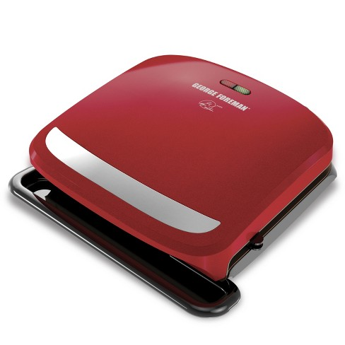 George Foreman 4-Serving Removable Plate Grill and Panini Press - Red GRP360R - image 1 of 7