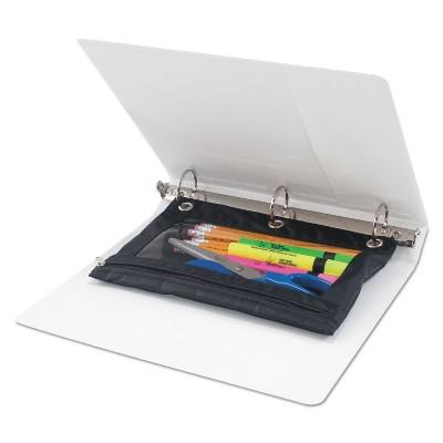 Advantus Corp Binder Pencil Pouch 10 x 7 3/8 Black/Clear 3/Pack 63067