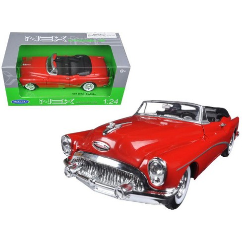 1953 Buick Skylark Convertible Red 124 Diecast Model Car By Welly