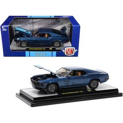 1970 Ford Mustang Mach 1 428 Dark Blue Metallic w/ Bright Blue Stripes Ltd Ed to 7000 Pcs 1/24 Diecast Model Car M2 Machines