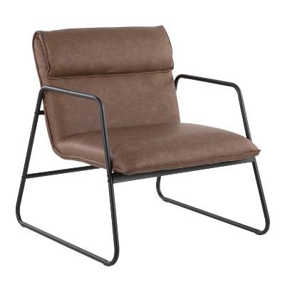 Casper Armchair Leather/Steel Black/Espresso - LumiSource