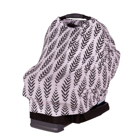 J.L. Childress 4-in-1 Multi-Use Cover Black Feathers - image 1 of 4