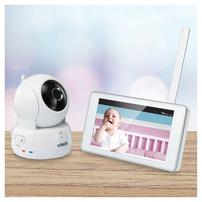 VTech® Expandable HD 5  Touch Screen Video Baby Monitor with Wi-Fi and Pan & Tilt Camera - White - VM991