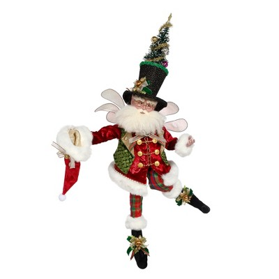 Mark Roberts Products Red and Green Mark Roberts Collectible Bah Humbug Christmas Fairy, Large 27 - Inches