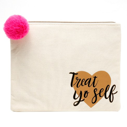 Makeup Bag And Organizer Treat Yourself Print - Target Beauty™ - image 1 of 4