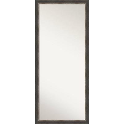 "28"" x 64"" Bark Rustic Framed Full Length Floor/Leaner Mirror Charcoal - Amanti Art"