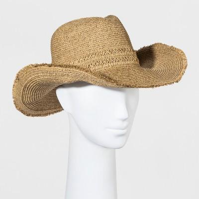 Women's Straw Cowboy Hat - Universal Thread™ Tan