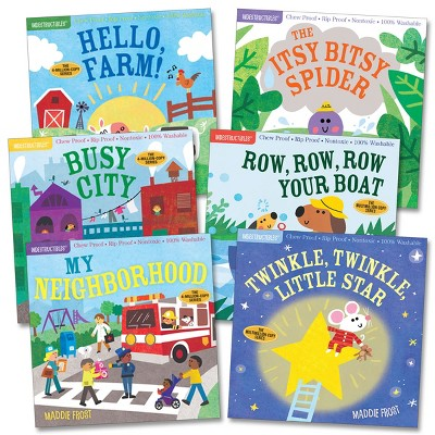 Workman Publishing Indestructibles Community & Nursery Rhyme Picture Book - Set of 6