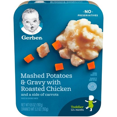 Gerber Lil' Entrees Mashed Potatoes & Gravy with Roasted Chicken and Carrots Baby Meals - 6.6oz