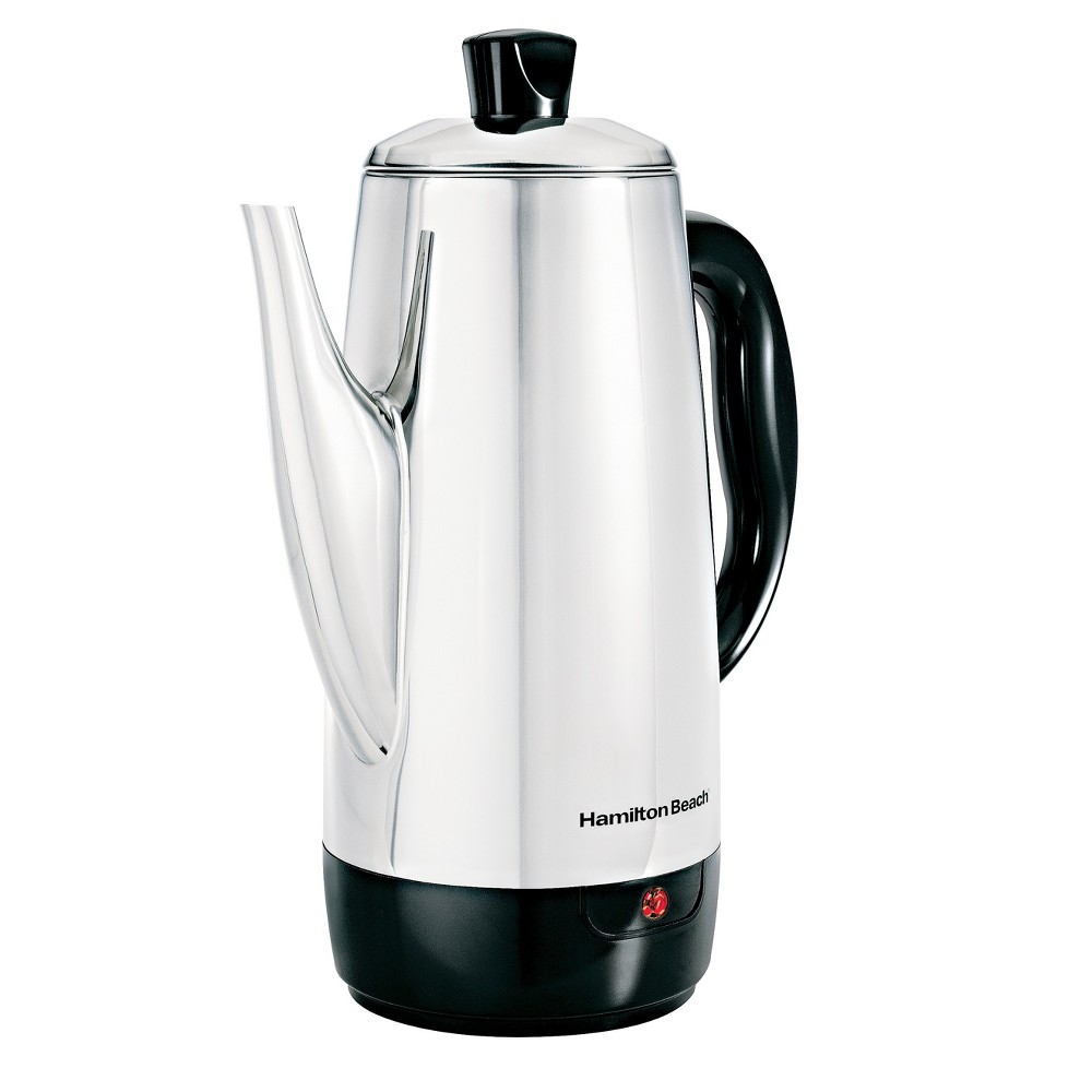 Hamilton Beach 12 Cup Coffee Percolator – 40616, Silver 596195