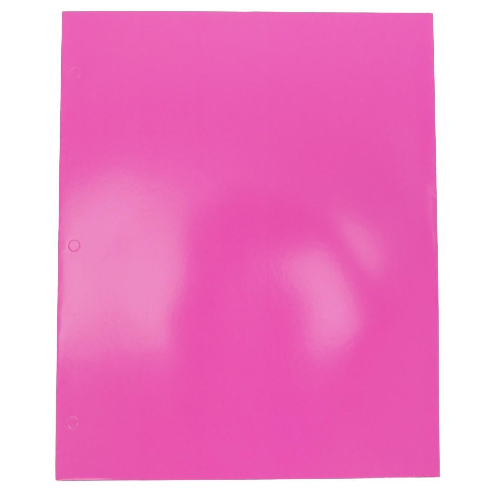Image of 2 Pocket Paper Folder Pink - Pallex