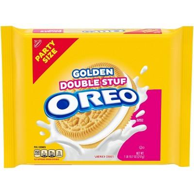 Oreo Golden Double Stuff Sandwich Cookies Party Size - 26.7oz