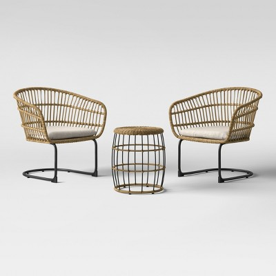 Superbe Southport 3pc Wicker Motion Patio Chat Set   Project 62™