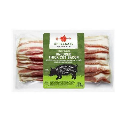 Applegate Natural Hickory Smoked Uncured Thick Cut Bacon - 12oz - image 1 of 4