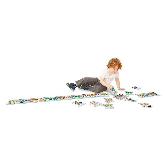 Melissa & Doug Alphabet Express Jumbo Jigsaw Floor Puzzle (27pc, 10 feet long) image number null