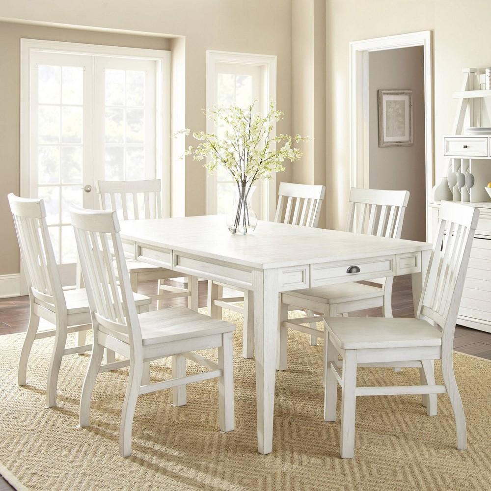 7pc Cayla Dining Set White - Steve Silver
