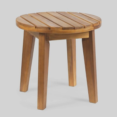 Gertrude 16  Acacia Wood Side Table - Teak - Christopher Knight Home