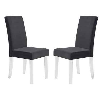 Acrylic legs for furniture Sofa Dalia Modern And Contemporary Dining Chair Set Of With Acrylic Legs Armen Living Archello Dalia Modern And Contemporary Dining Chair Set Of With Acrylic