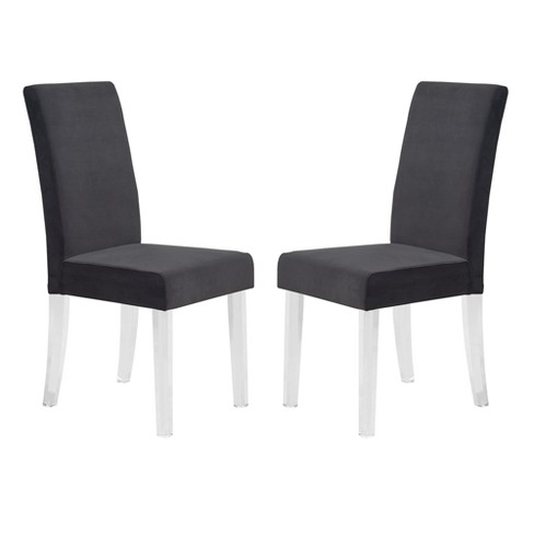 Dalia Modern And Contemporary Dining Chair Set Of 2 With Acrylic