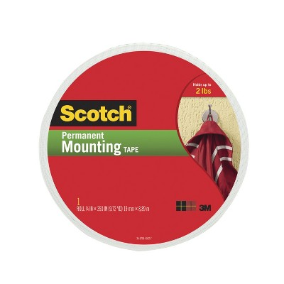 Scotch Permanent Mounting Tape, 0.75 x 350 Inches