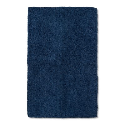 38 x24  Tufted Spa Bath Rug Dark Blue - Fieldcrest®
