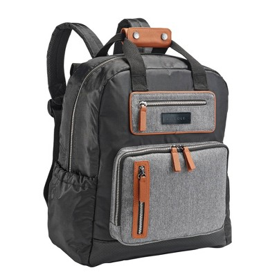 JJ Cole Papago Pack Diaper Bag - Camel Herringbone