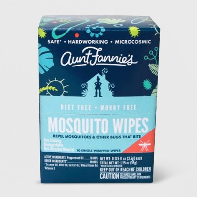 10ct Mosquito Wipes - Aunt Fannie's