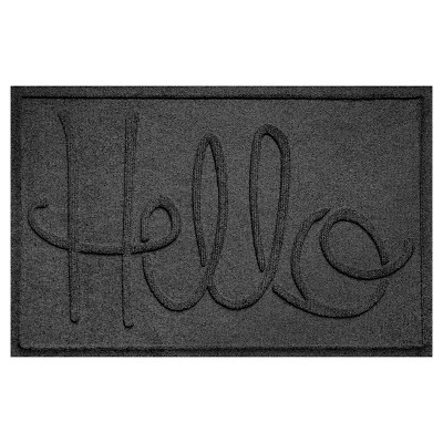Charcoal Typography Pressed Doormat - (2'X3')- Bungalow Flooring