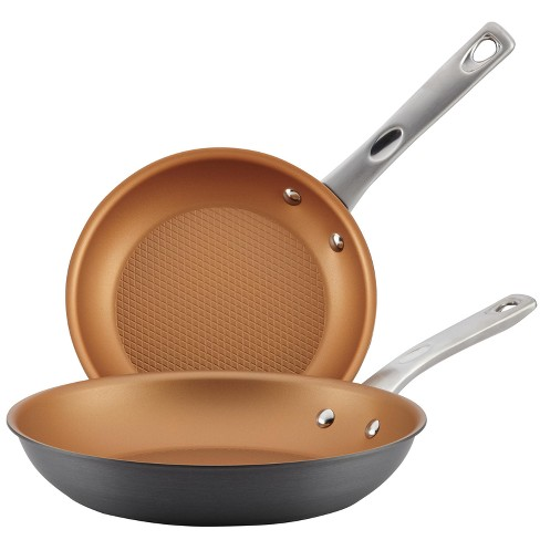 "Ayesha Curry™ 9.25"" x 11.5"" Home Collection Hard Anodized Aluminum Skillets Twin Pack - image 1 of 4"