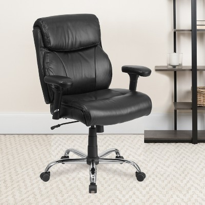 Flash Furniture HERCULES Series Big & Tall 400 lb. Rated Swivel Ergonomic Task Office Chair with Clean Line Stitching and Adjustable Arms