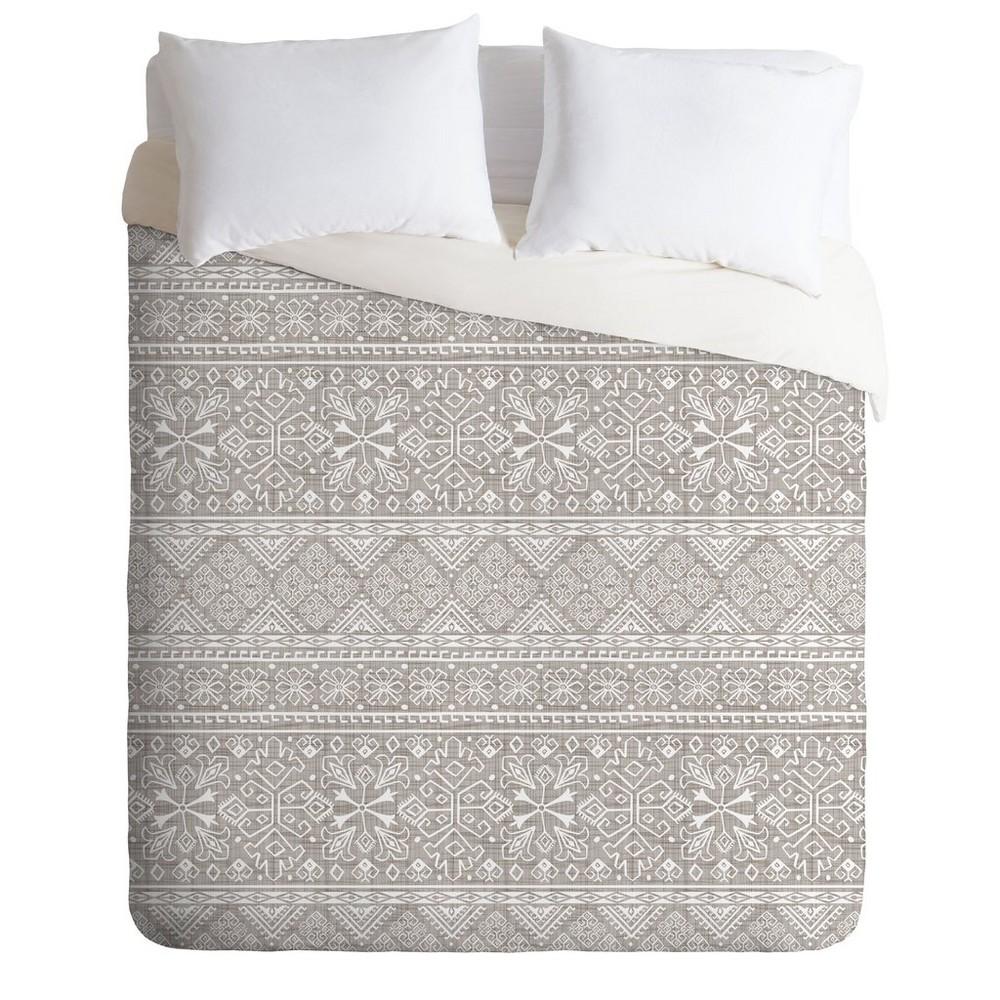 Full/Queen Heather Dutton Grand Bazaar Duvet Set Beige - Deny Designs