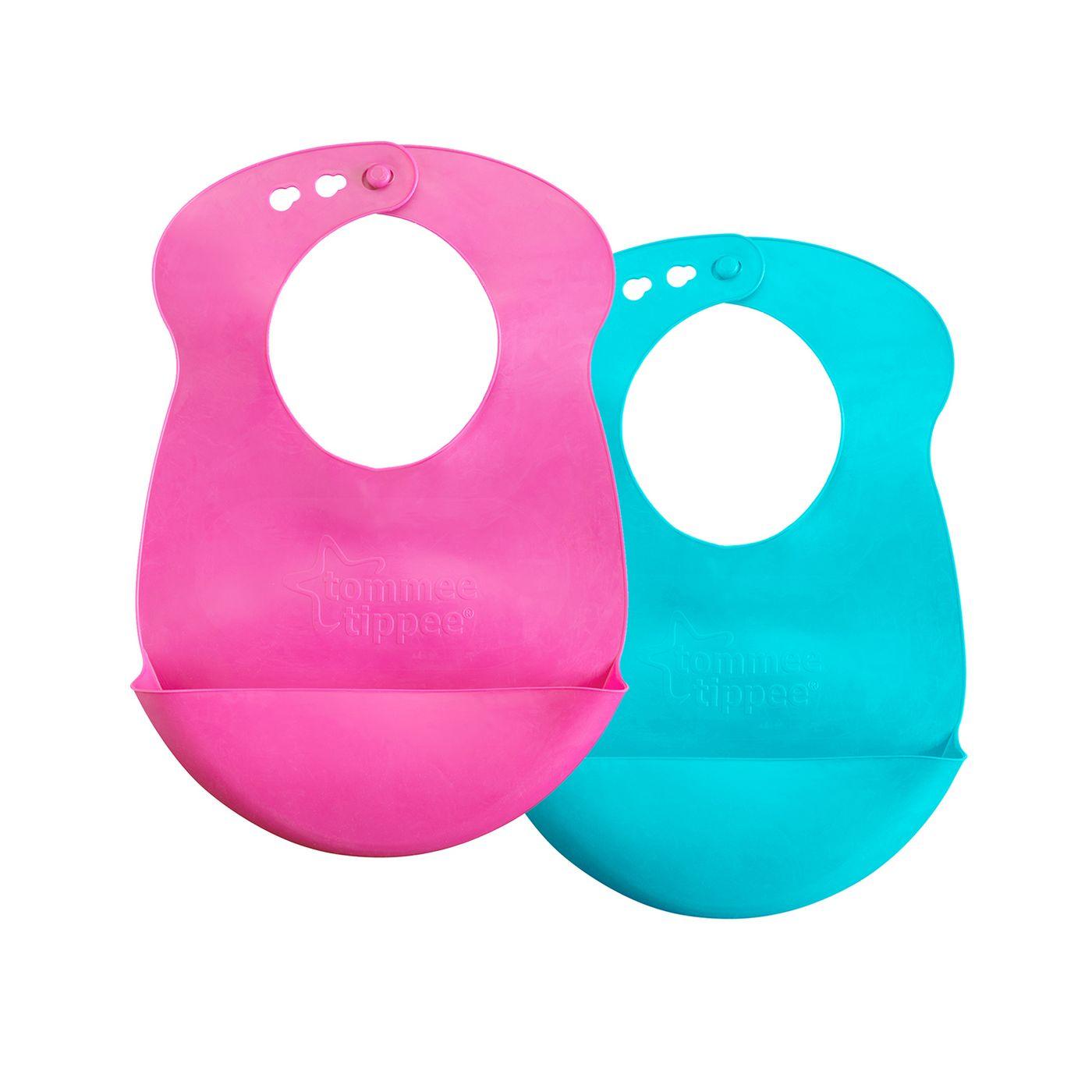Tommee Tippee Roll 'n' Go Baby Drip Catcher Bib 7+ months - 4pk - image 2 of 4