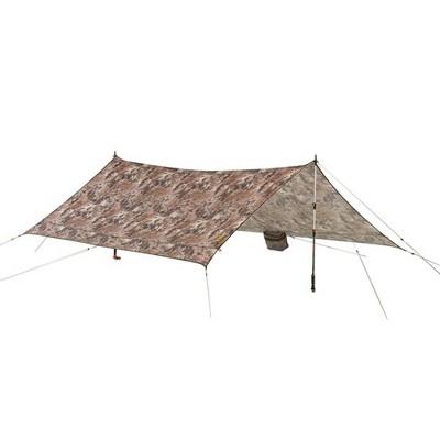 Slumberjack Satellite Tarp Outdoor Lightweight Camping Shelter with Waterproof Taped Seams and Multiple Pitch Options, Kryptek Highlander Camouflage