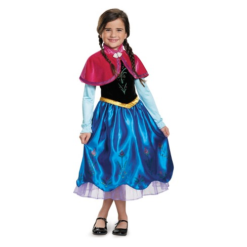 toddler girls disney princess anna deluxe halloween costume 3t 4t