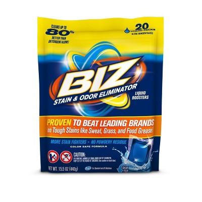 Biz Laundry Detergent Liquid Boosters - 20ct