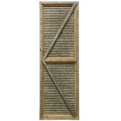 """47"""" The Shed Door Industrial Farmhouse Decorative Wall Art Brown - StyleCraft"""