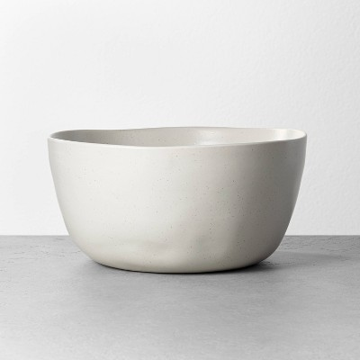 Refined Stoneware Serve Bowl Speckled Natural - Hearth & Hand™ with Magnolia